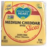 Follow Your Heart Medium Cheddar slices 200g_