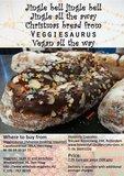 Veggiesaurus Heerlijk Vegan kerstbrood 500g (met chocolate topping) *THT 28.12.2018*_