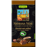 Rapunzel Nirwana noir dark chocolate with praliné filling organic 100g_