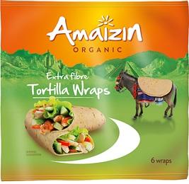 Amaizin Tortilla wraps extra fibre 240g