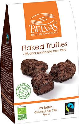 Belvas Flaked Trufflels 73% Cacao 100g