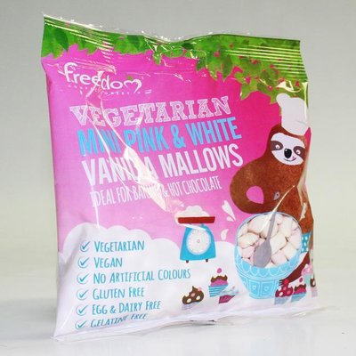 Freedom  Confectionery Mallows Pink & White Mini Marshmallows 75g