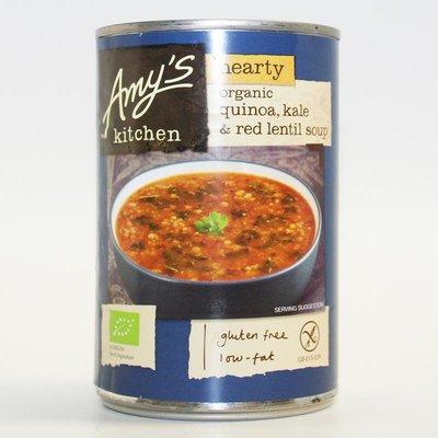 Amys Kitchen Quinoa Kale & Red Lentil Soup 408g
