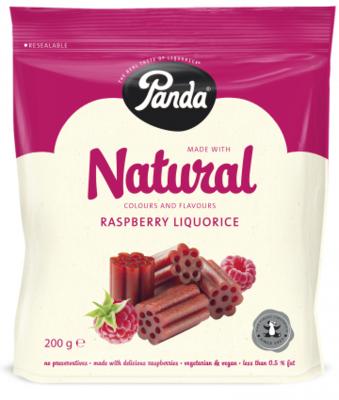 Panda Raspberry Liquorice 200g