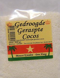 Maussi Kruiden Gedroogde Geraspte Cocos 200g