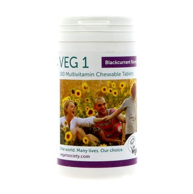 The Vegan Society VEG 1 Blackcurrant 180 tablets