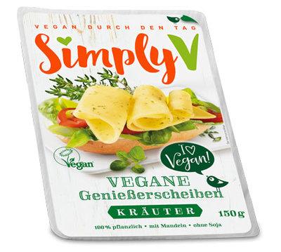Simply V Vegane GenieBerscheiben Krauter 150g *THT 14.08.2018*