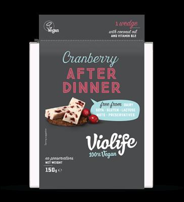 Violife After Dinner Cranberry UK 150g *BBD 02.11.2018*