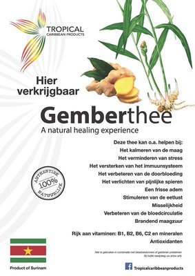 Tropical Caribbean Products Bio Gember thee 50g