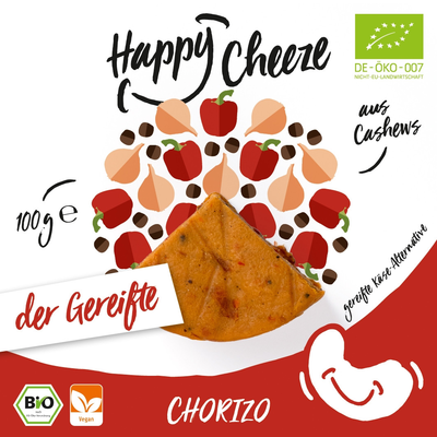 Happy Cheeze Chorizo, gereift (BIO), 100g *THT 06.02.2018*