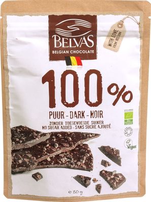 Belvas Belgian Thins 100% puur 80g
