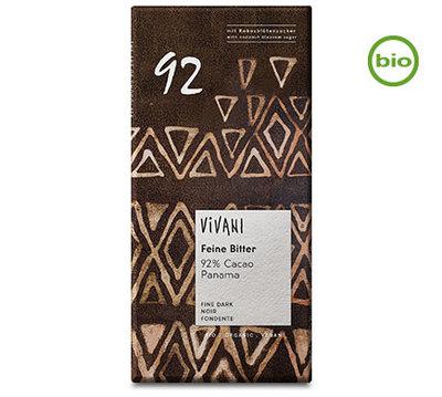 Vivani organic fine bitter 92% cacao chocolate 80g