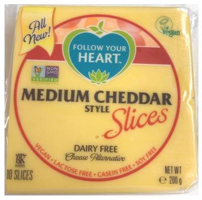 Follow Your Heart Medium Cheddar slices 200g