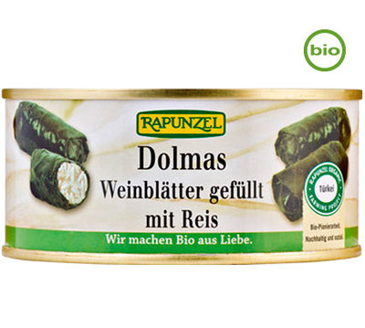 Rapunzel DOLMAS wine leaves filled wirth rice organic 280g