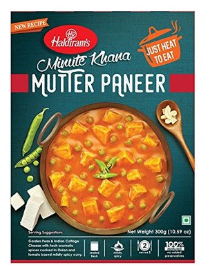 Haldiram's Mutter paneer (with Tofu) 300g