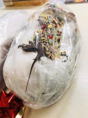 Veggiesaurus Heerlijk Vegan kerstbrood 500g (met chocolate topping) *THT 28.12.2018*