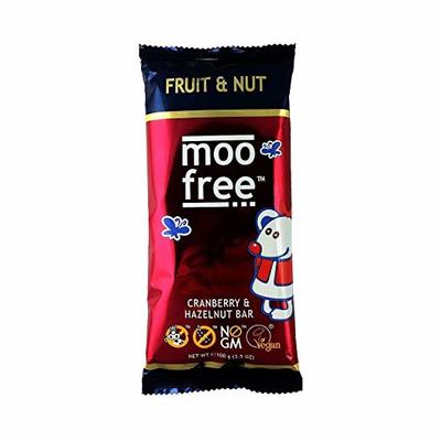 Moo Free Cranberry & Hazelnut Bar 100g