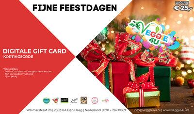 Veggie 4U Digitale Gift Card Fijne Feestdagen € 25,-