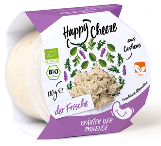 Happy Cheeze FRISCHKÄSE-KRÄUTER DER PROVENCE 120g  *THT 28.04.2018*