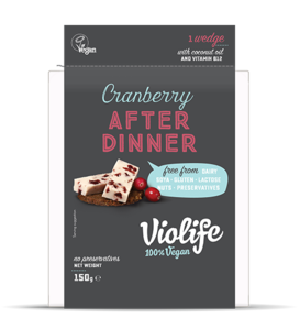 Violife After Dinner Cranberry UK 150g *THT 02.11.2018*