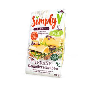 Simply V VEGANE GENIEßERSCHEIBEN Würzig 150g *THT 06.11.2018*