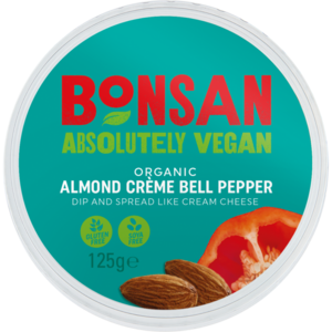 Bonsan Organic Almond Spread - Bell Pepper 125g