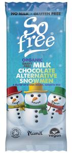 Plamil So free Bio Chocolade Sneeuwmannetjes Tray 30g
